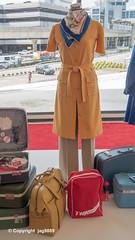 1975-1978 TWA Flight Attendant Uniform by Stan Herman, TWA Hotel at JFK Airport, New York City