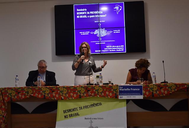 Seminário realizado em Brasília discute a reforma da Previdência, proposta pelo governo Jair Bolsonaro (PSL) - Créditos: Patrícia Antunes
