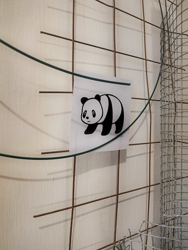 #goodpandacontest flickr Panda at the Textile Printing Studio im Atelier der Stoffdruckerin - After the Zoo we visited a friends atelier