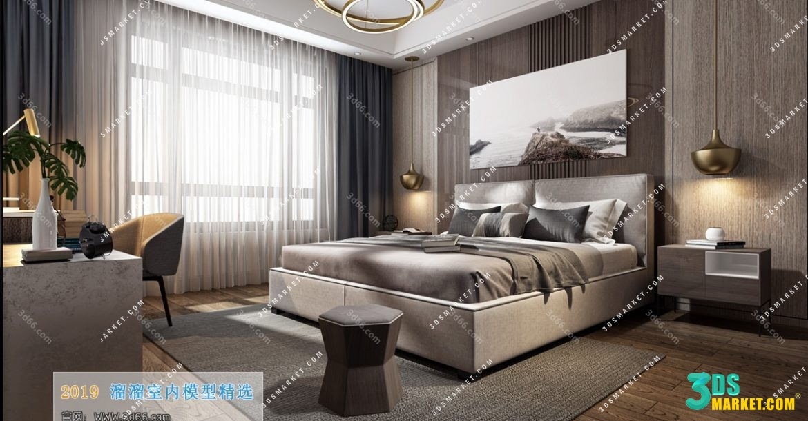 Bedroom 3d66 Interior 2019 Style 6 Sell Buy 3d Models Collection 3dsmarket Com