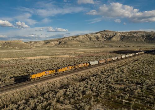 UP 7187 (AC4400) UP Train: MMPNPX-04 Kanda, Wyoming