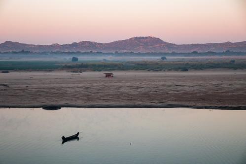The Ayeyarwady river at sunrise
