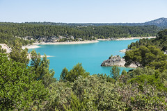 View over Lake Bimont - Photo of Châteauneuf-le-Rouge