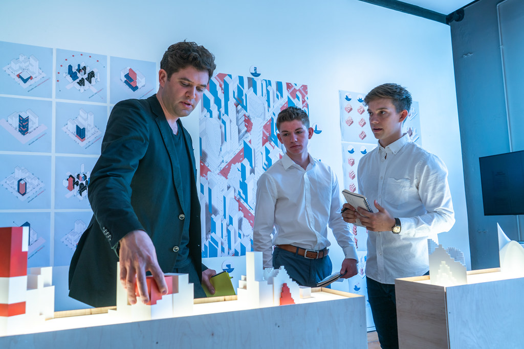 Jeffrey Drexel's (B.Arch. '19) and John Scheeler's (B.Arch. '19) thesis review. Photo by Andy Chen (B.Arch. '20).