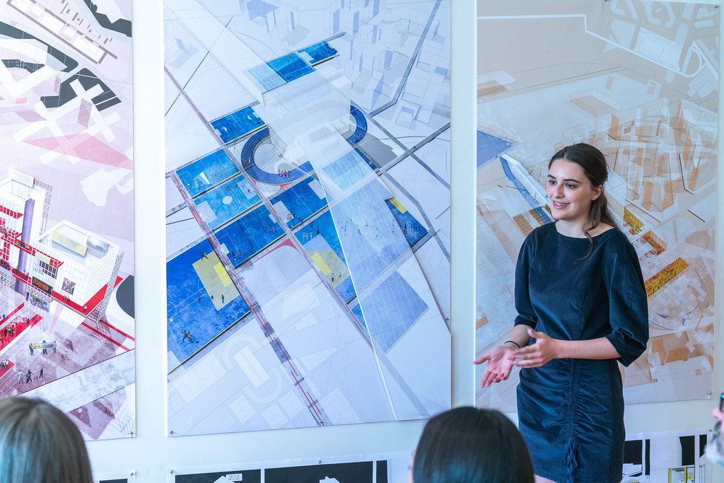 Lucy Flieger's (B.Arch. '19) thesis review. Photo by Andy Chen (B.Arch. '20).