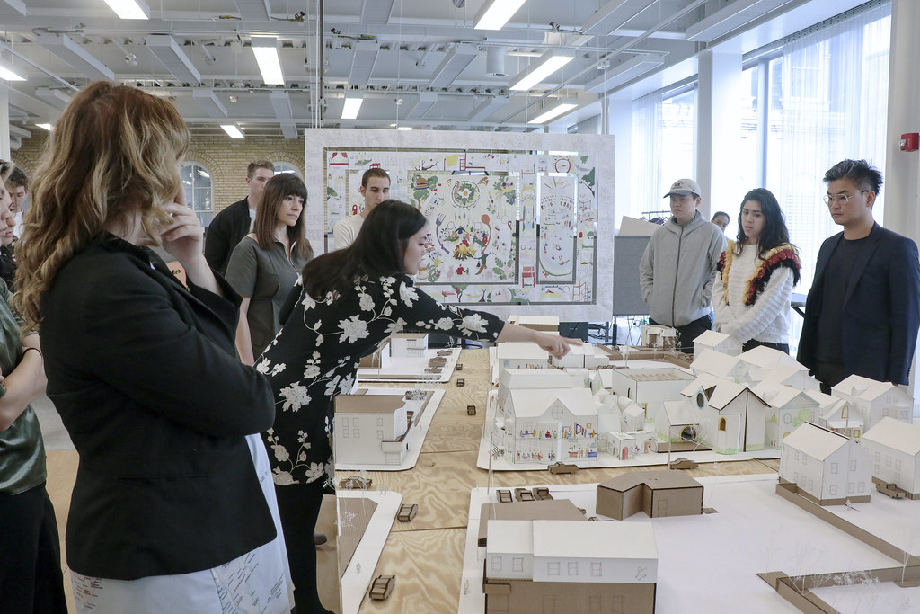 Charly Kring's (B.Arch. '19) thesis review. Photo by Yuheng (Amber) Zhu (B.Arch. '20).