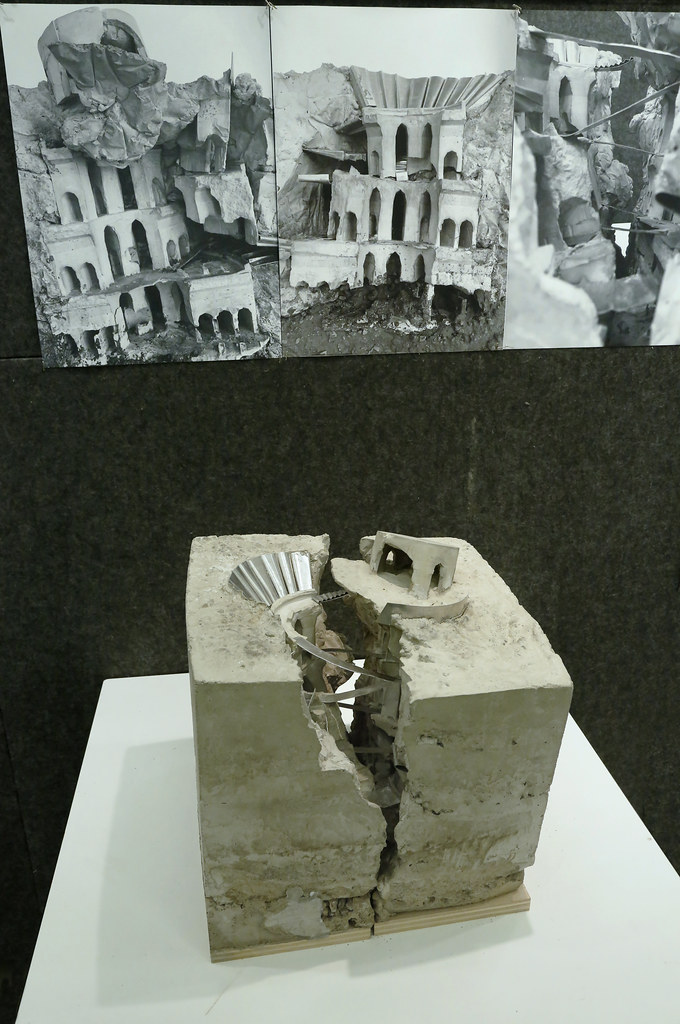 A model from the first-year B.Arch. final reviews, spring 2019 in Sibley and Milstein halls.