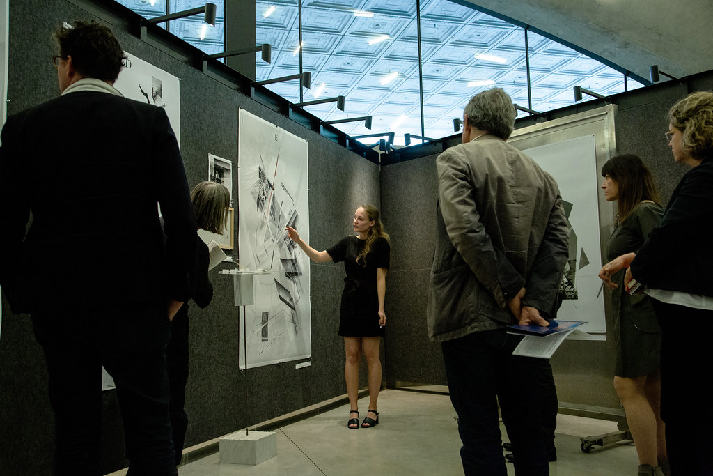 Hallie Black's (B.Arch. '19) thesis review. Photo by Ziqing (Becky) Xu (B.Arch. '20).