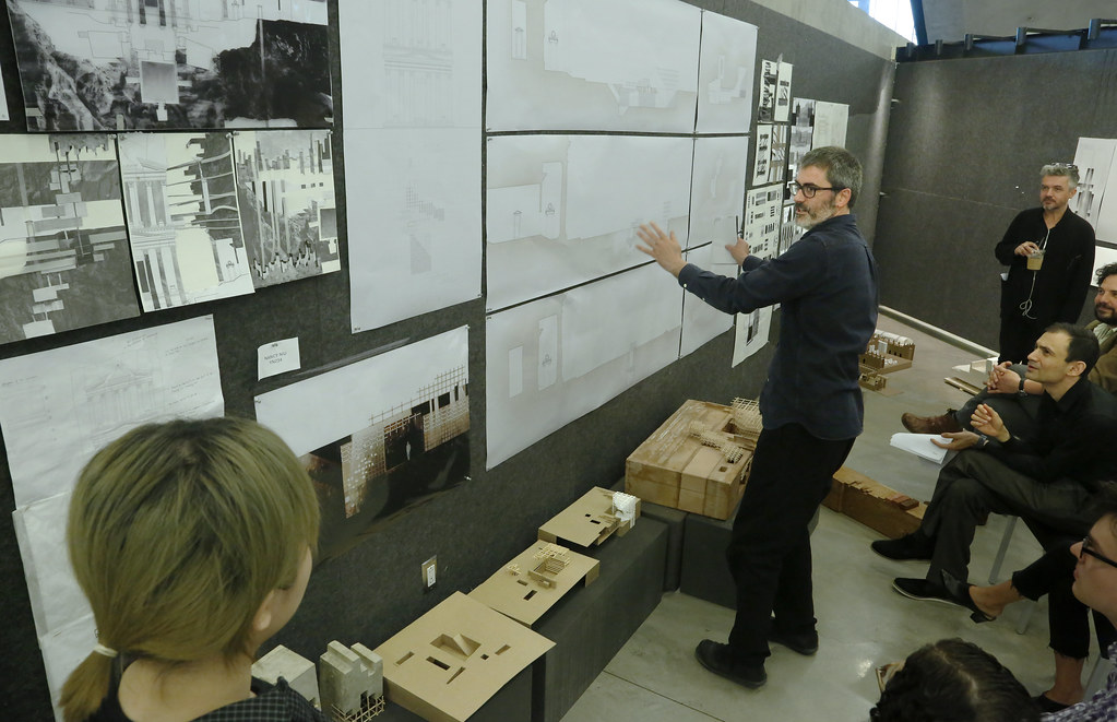 First-year B.Arch. final reviews, spring 2019 in Sibley and Milstein halls.