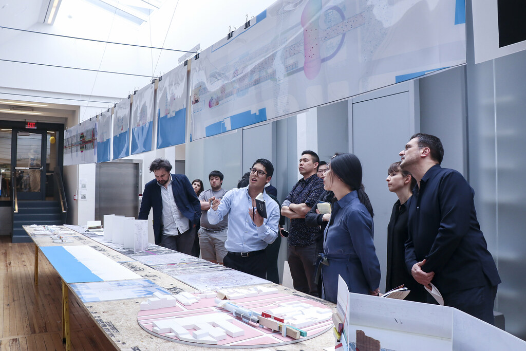 Issac Tejeira's (B.Arch. '19) thesis review. Photo by Yuheng (Amber) Zhu (B.Arch. '20).