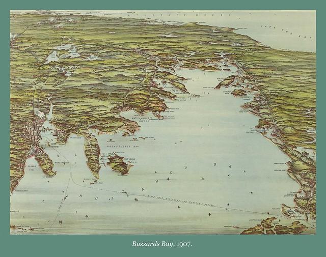 Map of Buzzards Bay, 1907