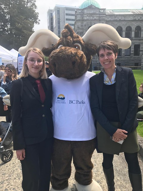 Melina, a moose, and an MLA!
