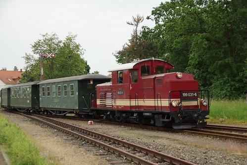 Einfahrt der Döllnitzbahn in Oschatz