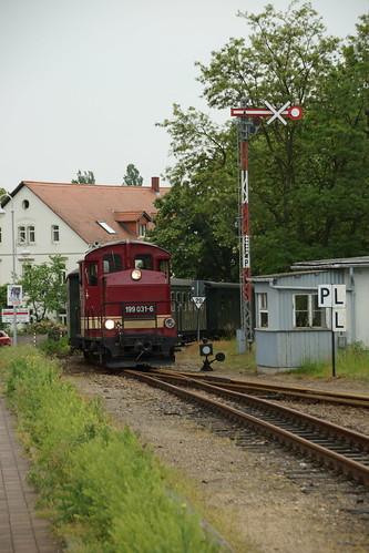 Einfahrt der Regionalbahn aus Mügeln in Oschatz