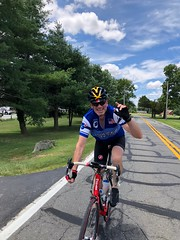 Dave on the Chaptico ride, July 2018
