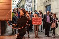 Minerals Forum Protest, Town Hall, Dunedin, New Zealand, 7.30 AM Tues. 28 May 2019