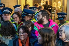 Minerals Forum Protest, Town Hall, Dunedin, New Zealand, 7.53 AM Tues. 28 May 2019