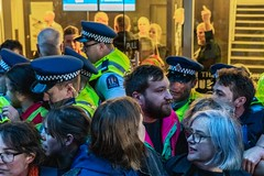 Minerals Forum Protest, Town Hall, Dunedin, New Zealand, 7.54 AM Tues. 28 May 2019