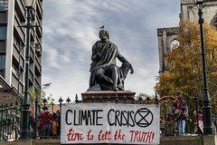 Minerals Forum Protest, Town Hall, Dunedin, New Zealand, 11.36 AM Tues. 28 May 2019