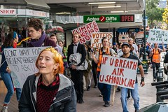 Minerals Forum Protest, Town Hall, Dunedin, New Zealand, 11.32 AM Tues. 28 May 2019