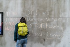 Minerals Forum Protest, Town Hall, Dunedin, New Zealand, 12.43 PM Tues. 28 May 2019