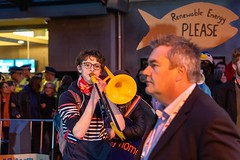 Minerals Forum Protest, Town Hall, Dunedin, New Zealand, 7.43 AM Tues. 28 May 2019