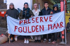 Minerals Forum Protest, Town Hall, Dunedin, New Zealand, 7.47 AM Tues. 28 May 2019