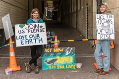 Minerals Forum Protest, Town Hall, Dunedin, New Zealand, 10.24 AM Tues. 28 May 2019