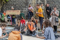 Minerals Forum Protest, Town Hall, Dunedin, New Zealand, 12.24 PM Tues. 28 May 2019