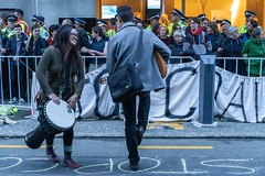 Minerals Forum Protest, Town Hall, Dunedin, New Zealand, 8.05 AM Tues. 28 May 2019
