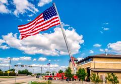 Memorial Flag at Allen Fire Station #2