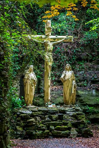 Croix de la grotte d'allain à Tournai