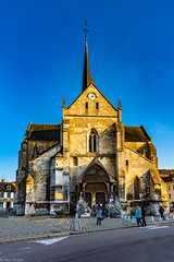 View of the front entrance to the Petit Andely Saint Sauveur Church, Normandy Region, France -44