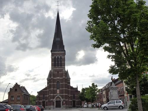 Eglise st Géry, Houdeng-Goegnies. Belgique.