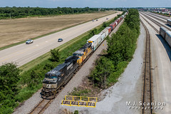 NS 9047 | GE C44-9W | UP Memphis Subdivision