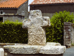 Stone Cross at Saint-Cyr-des-Gâts France