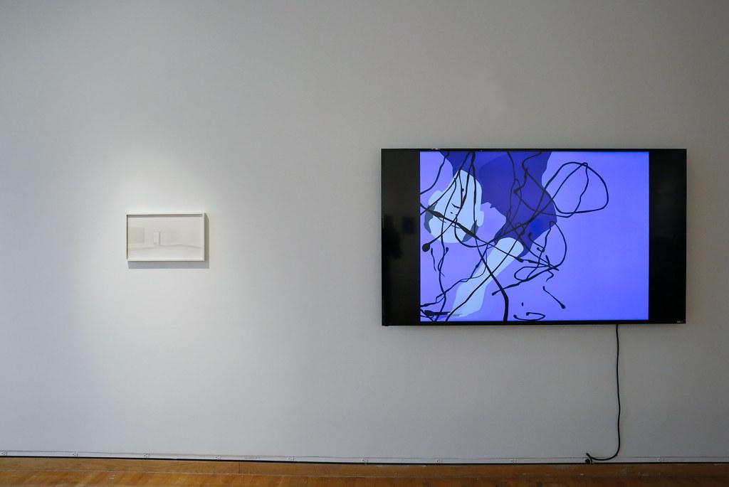Kota Ezawa's exhibition: <em>Paint Unpaint</em>, in John Hartell Gallery.