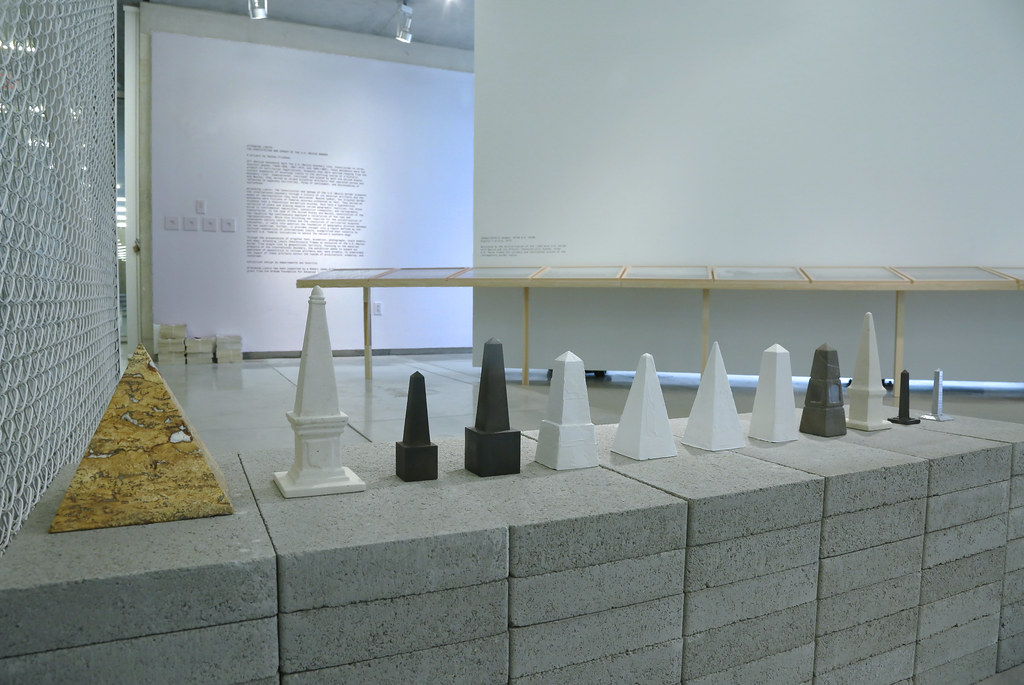 Nathan Friedman's exhibition <em>Attending Limits: The Constitution and Upkeep of the U.S.–Mexico Border</em>, Bibliowicz Family Gallery.