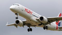 Embraer ERJ-190LR, Hop, provenance Toulouse, F-HBLB - Photo of Attiches
