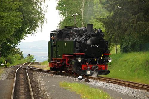 99 760 beim Rangierdienst in Kurort Jonsdorf