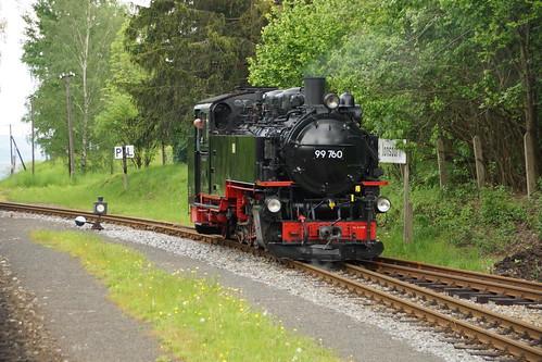 99 760 im Rangierdienst in Kurort Jonsdorf