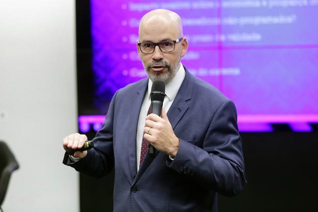 Fabio Zambitte, professor da UERJ, participou de audiência pública sobre o regime de capitalização e avaliação atuarial - Créditos: Michel Jesus | Câmara dos Deputados