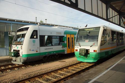 Die Vogtlandbahn in Zwickau Hbf