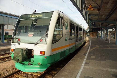 VT39 der Vogtlandbahn in Zwickau Hbf