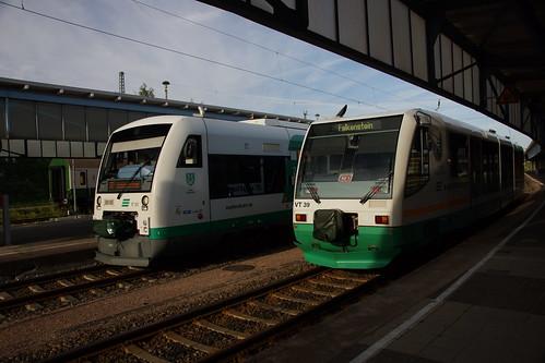 VT50 und VT39 der Vogtlandbahn in Zwickau Hbf