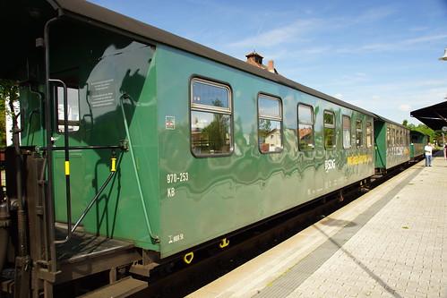 Zug der Weisseritztalbahn in Dippoldiswalde