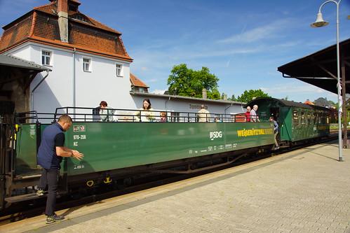 Aussichtswagen der Weisseritztalbahn in Dippoldiswalde