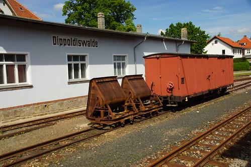 Abgestellte Wagen in Dippoldiswalde