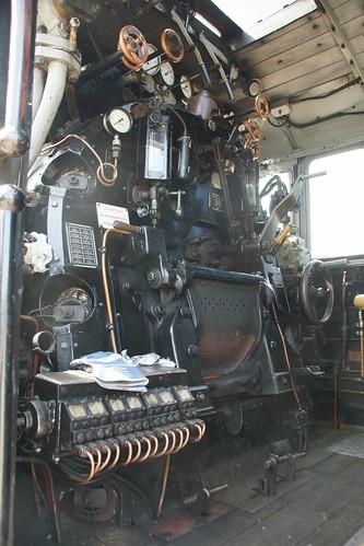 Führerstand der Weisseritztalbahn Lok 99 1777