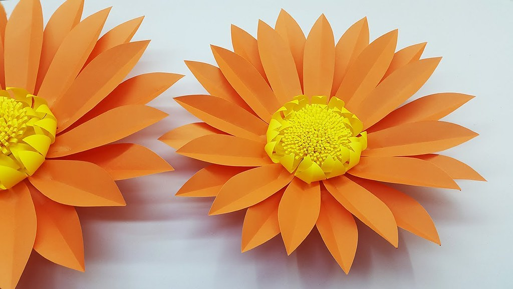 Giant Paper Flower Daisy Making Tutorial With Template Paper Craft